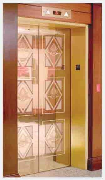 Golden Etching Decorative Door